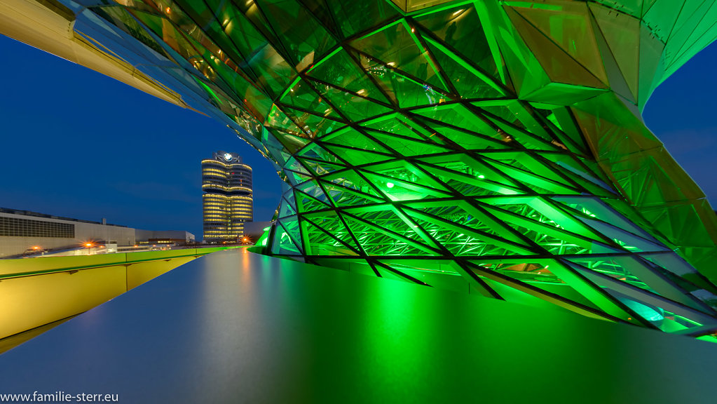 BMW Welt am St Patricks Day